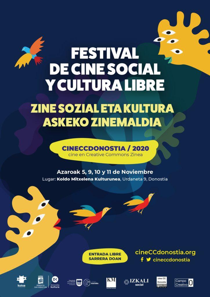 cinecc - Segunda cita, hoy, con el Festival de Cine Social y Cultura Libre en Koldo Mitxelena
