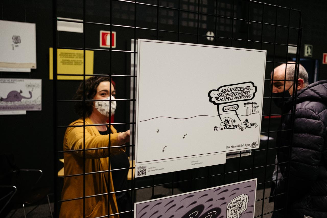 DSCF2144 - Las viñetas de Forges llevan el humor a Eureka! Zientzia Museoa