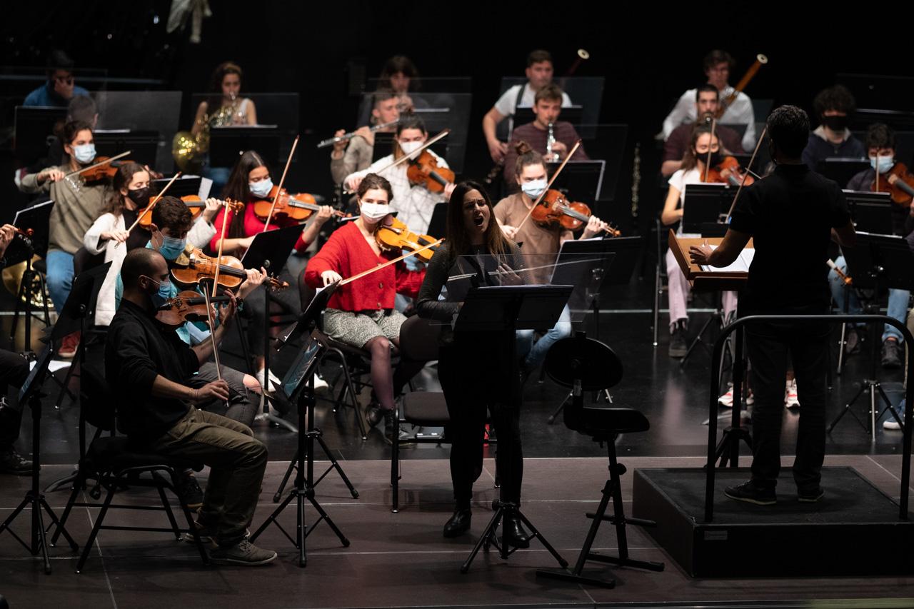 Último ensayo de la EGO antes de los conciertos de Navidad. Foto: Santiago Farizano