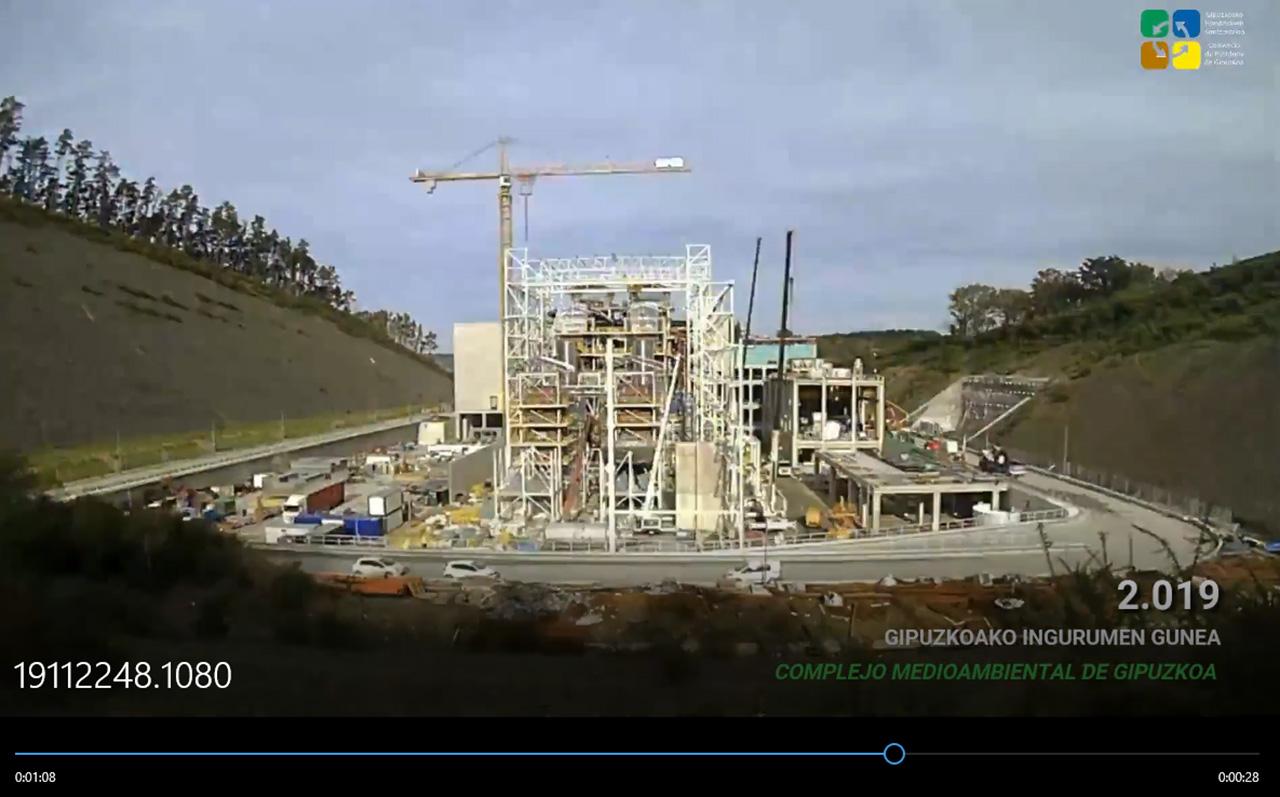 Imagen del vídeo (en el interior) sobre la creación de esta infraestructura.