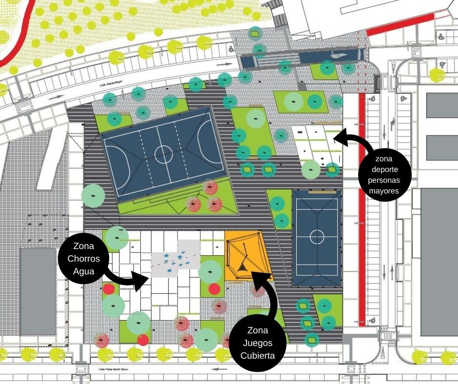 plano Arteleku con leyendas - La Plaza Arteleku de Txomin Enea estará lista a finales de 2021