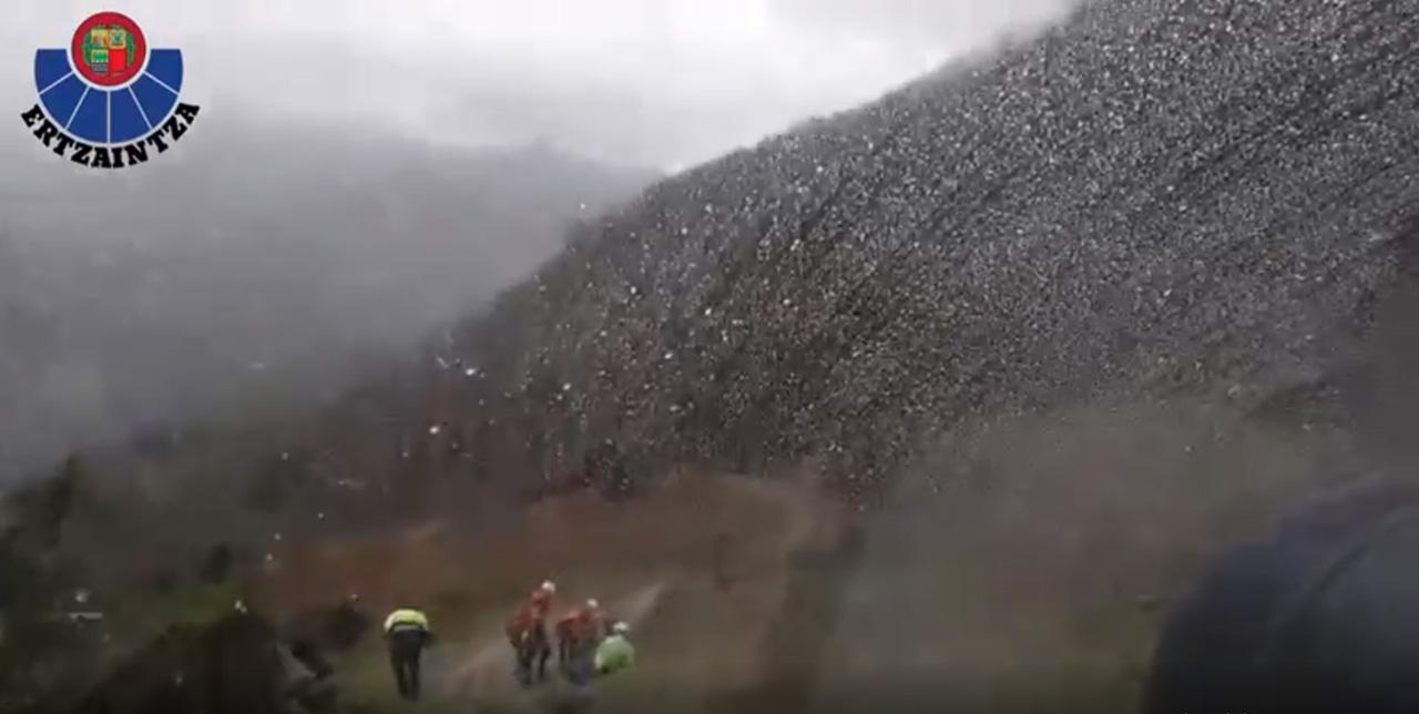 Imagen del vídeo del rescate