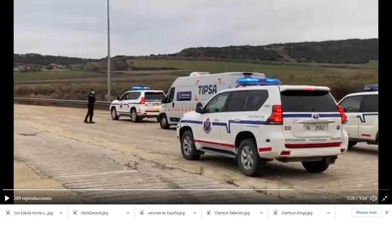 Imagen del vídeo del delegado de Gobierno Denis Itxaso en las redes.
