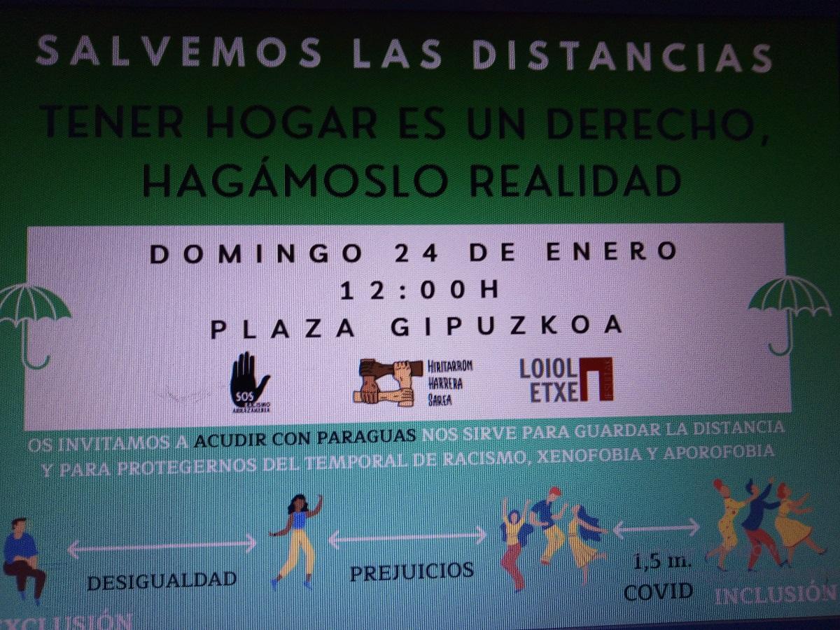 """24 sin hogar - Concentración el domingo en Donostia porque """"la calle mata"""""""