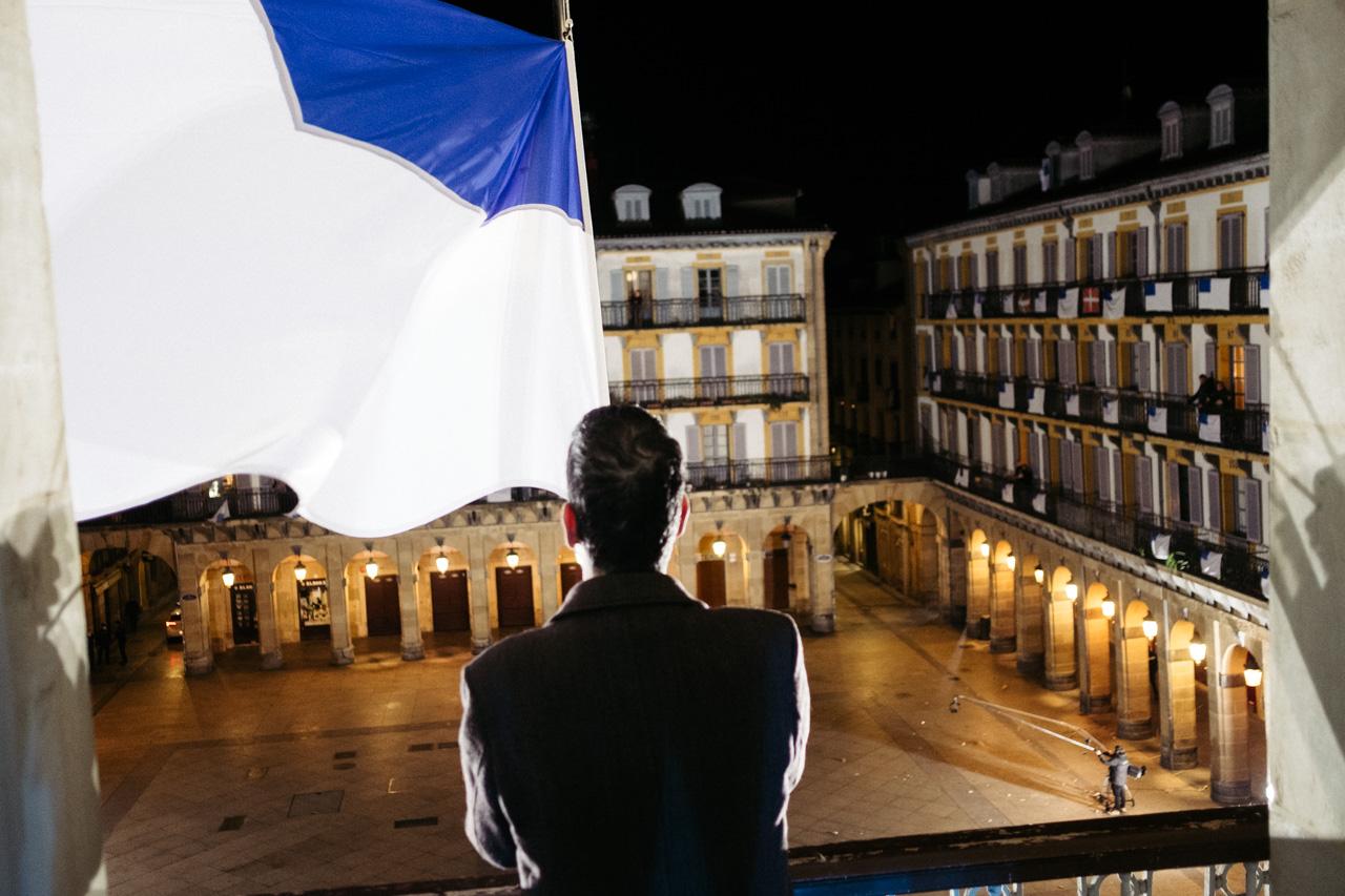 Arriada de la bandera el 20 de enero de 2021. Una fecha para recordar a causa de la pandemia. Fotos: Santiago Farizano