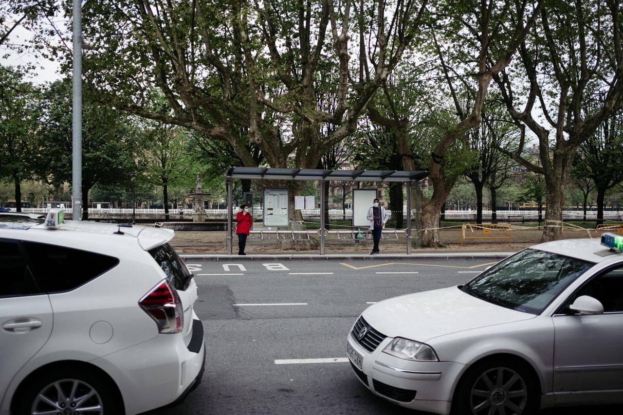 Taxis en Donostia. Foto: Santiago Farizano