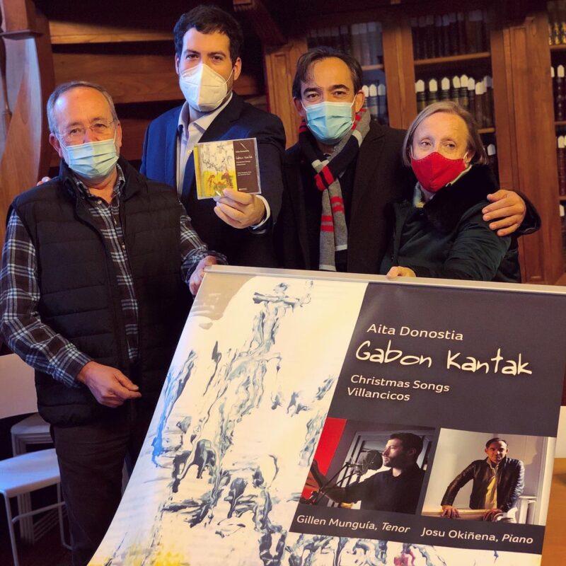 Gabon Kantak Okiñena y Munguía presentan hoy su recopilación navideña de Aita Donostia