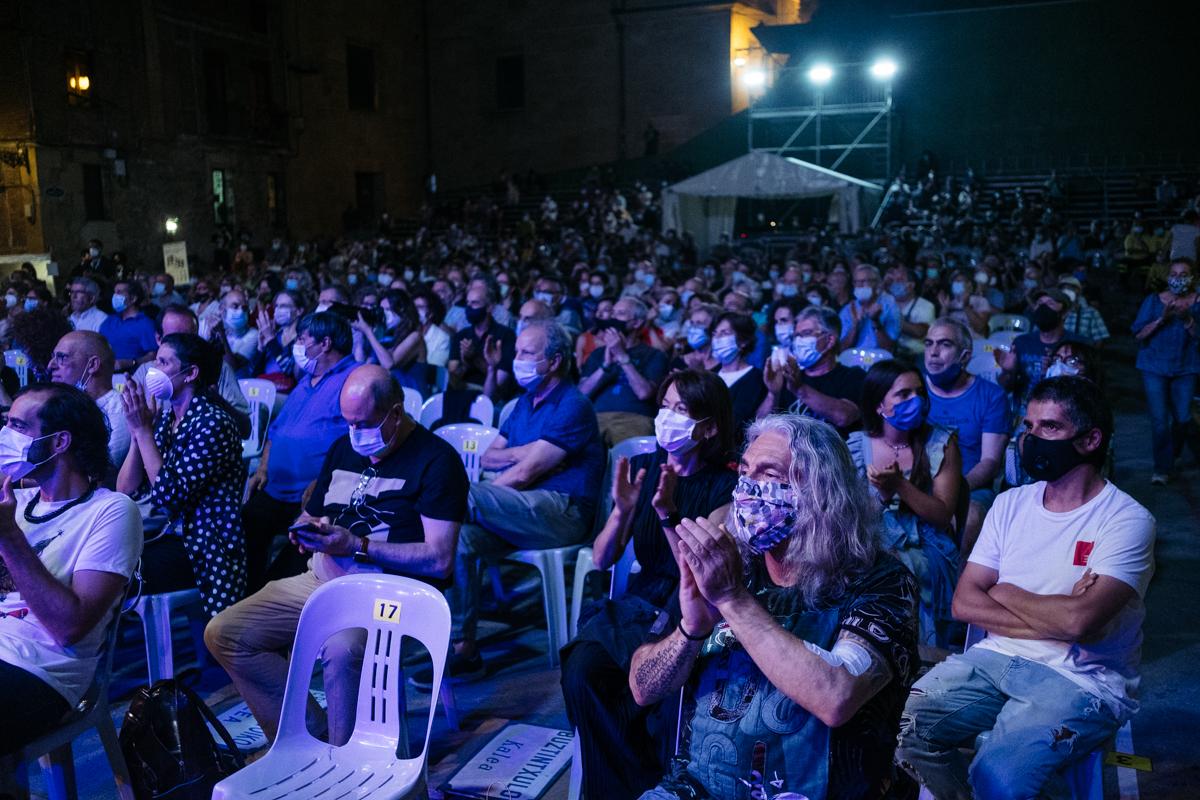 Plaza de la Trinidad durante el Festival de Jazz. Fotos: Santiago Farizano