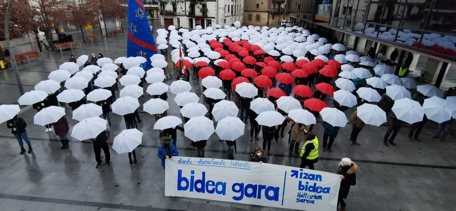 Acto en Lasarte-Oria. Foto: Sare #IzanBidea