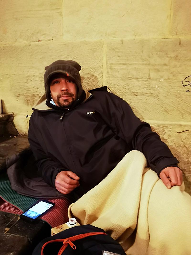 Mohammed La 'cara b' de la plaza de la Constitución de Donostia