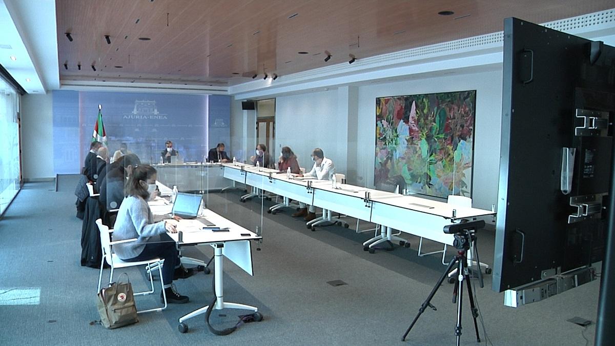 Reunión esta mañana. Foto: Gobierno vasco