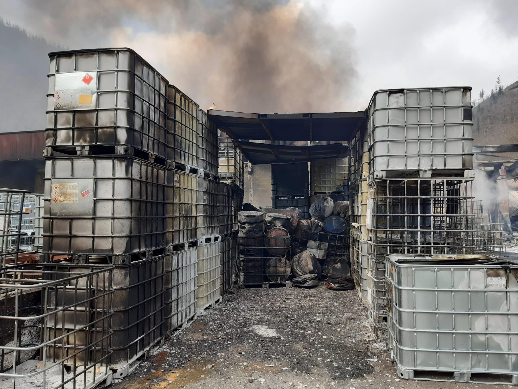 La empresa afectada por el incendio. Foto: Sos Deiak