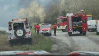 Irun Desalojan caseríos en Irun por la cercanía del incendio de Navarra