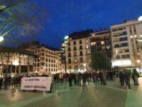 Kontzentra Concentración en Donostia en apoyo de Pablo Hasel