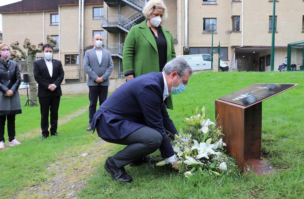 Homenaje a las víctimas de la Covid-19. Foto: Diputación de Gipuzkoa