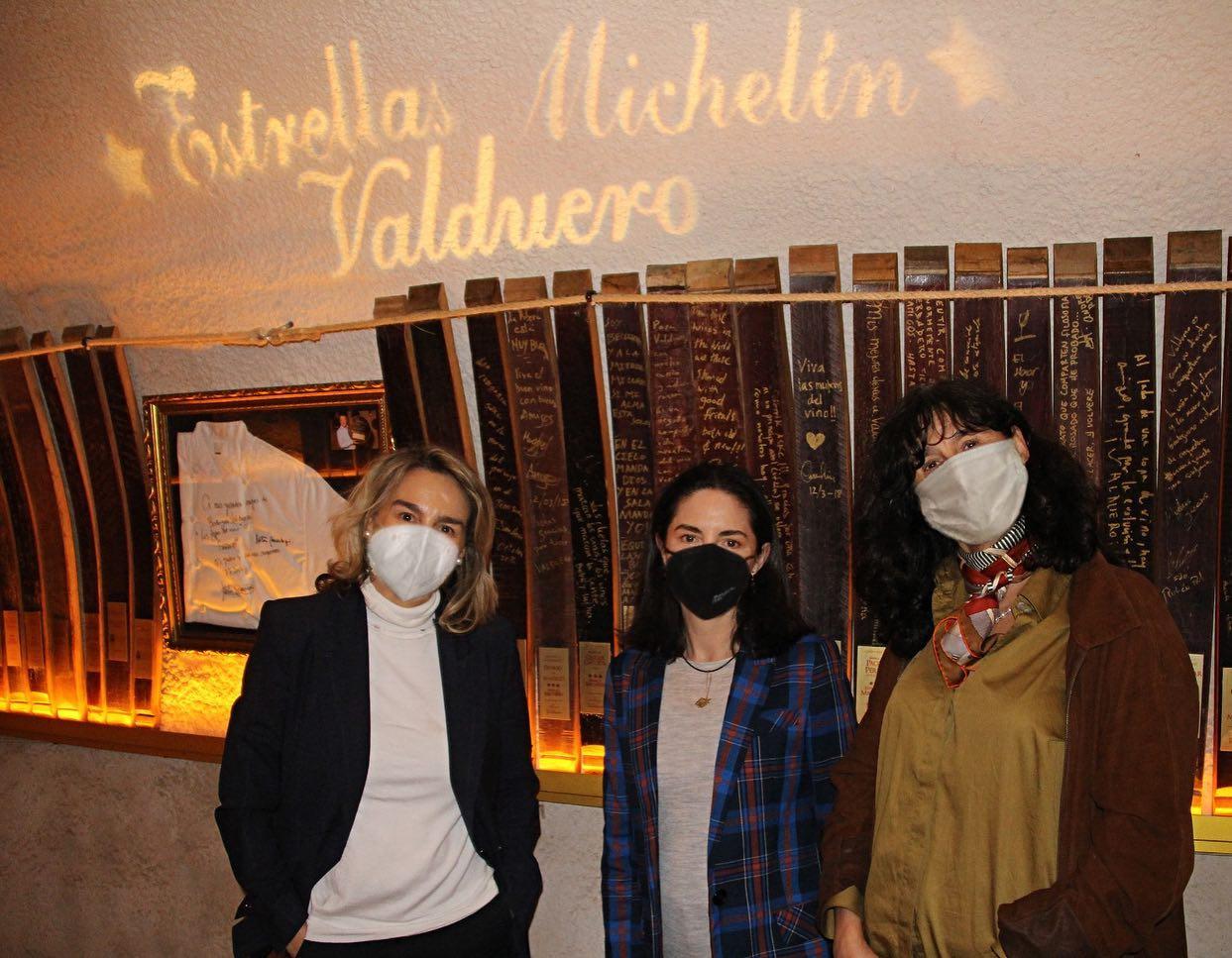 Elena Arzak en Bodegas Valduero. Foto: Bodegas Valduero (vía Facebook)