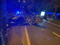 accidente2 Dos heridos tras un fuerte choque entre dos turismos en Donostia