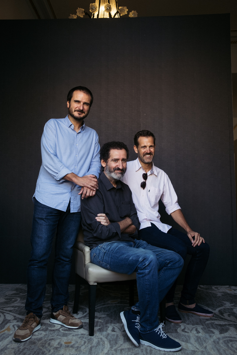 Aitor Arregi, Jon Garaño y Jose Mari Goenaga. Foto: Santiago Farizano