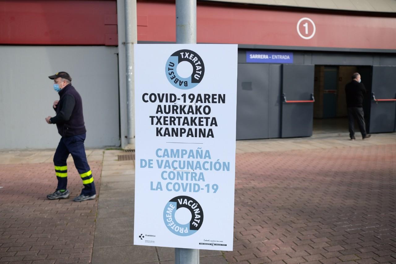La plaza de toros de Illunbe se convierte en centro de vacunación