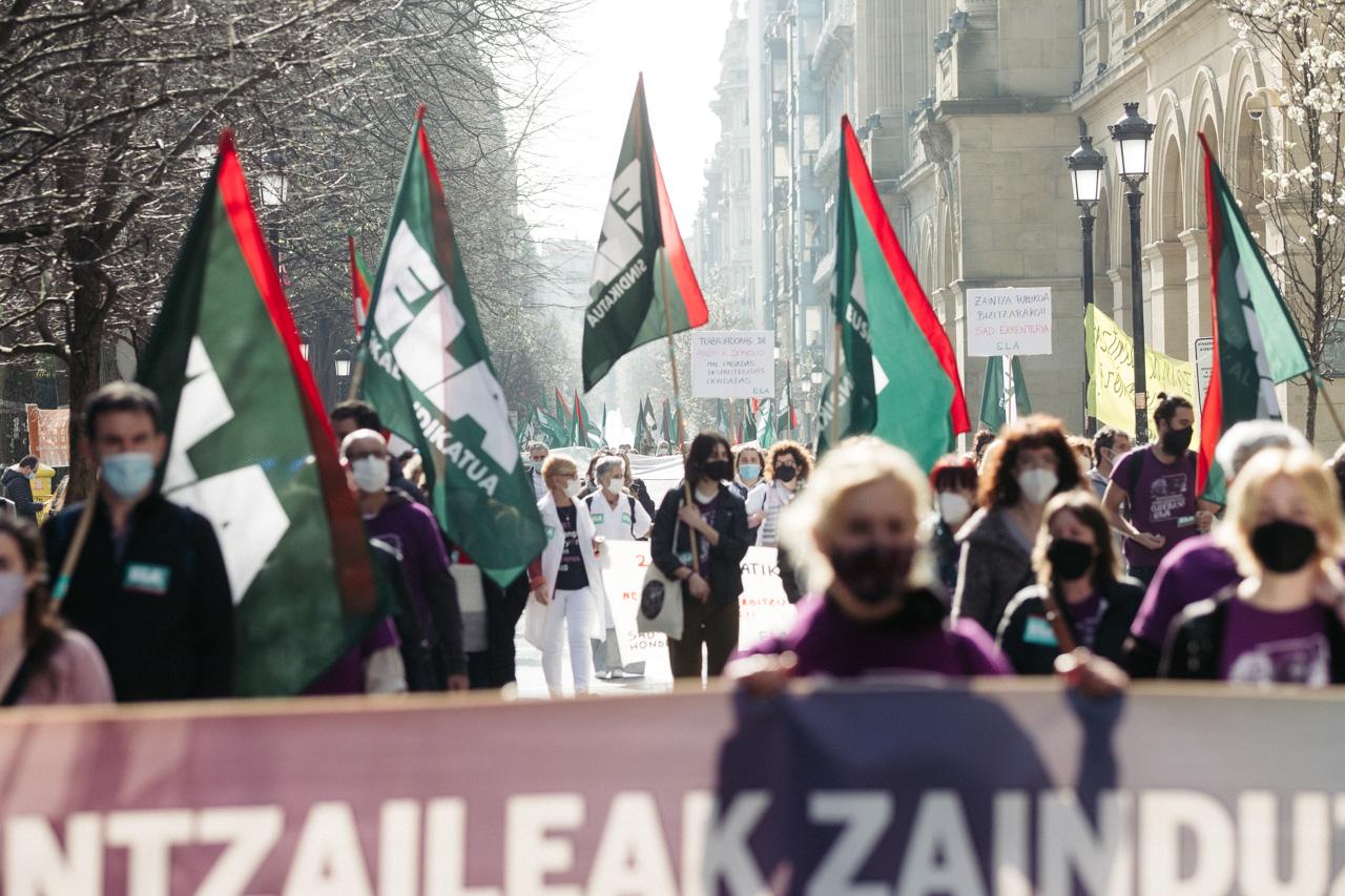 DSCF0882 - El sector de los cuidados vuelve a la calle y reclama cambios en Euskadi