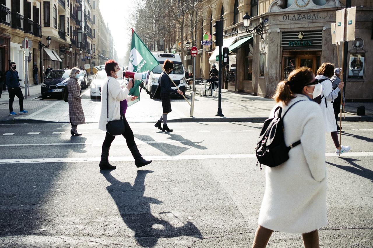 DSCF0929 - El sector de los cuidados vuelve a la calle y reclama cambios en Euskadi