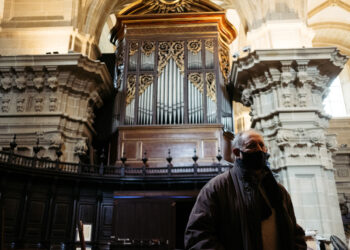 Restauración del órgano de la basílica de Santa María. Fotos: Santiago Farizano