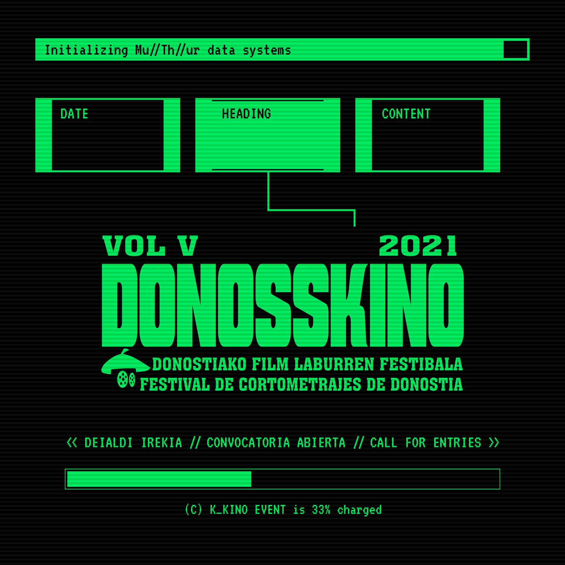 Cartel de la quinta edición de Donosskino. Foto: Donosskino festibala