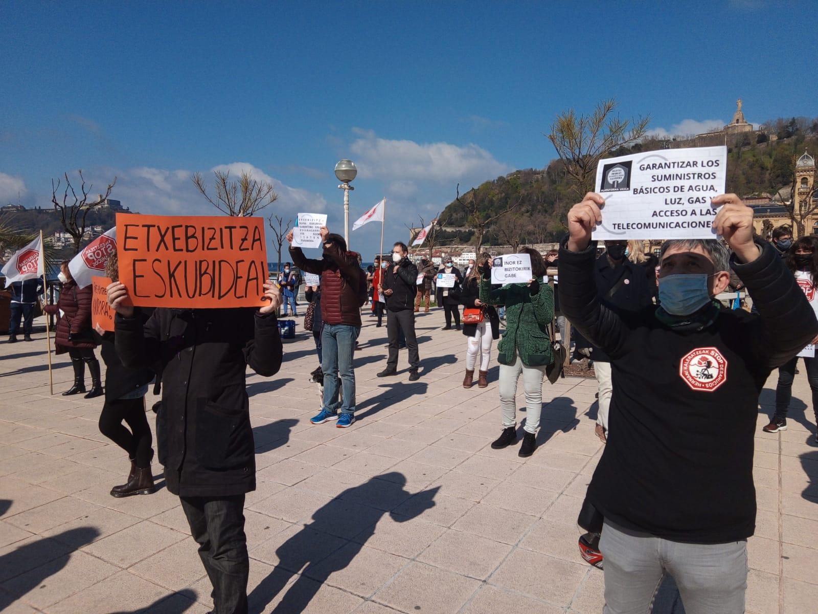 Archivo. Manifestación del 20  de marzo por el derecho a la vivienda. Foto: A.E.