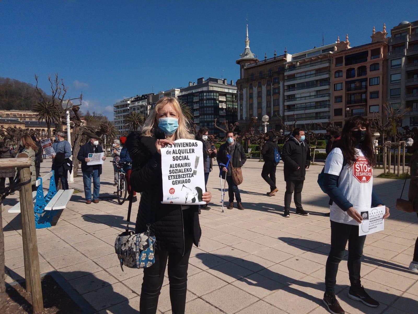 IMG 20210320 WA0010 - Donostia también se manifiesta por el derecho a la vivienda