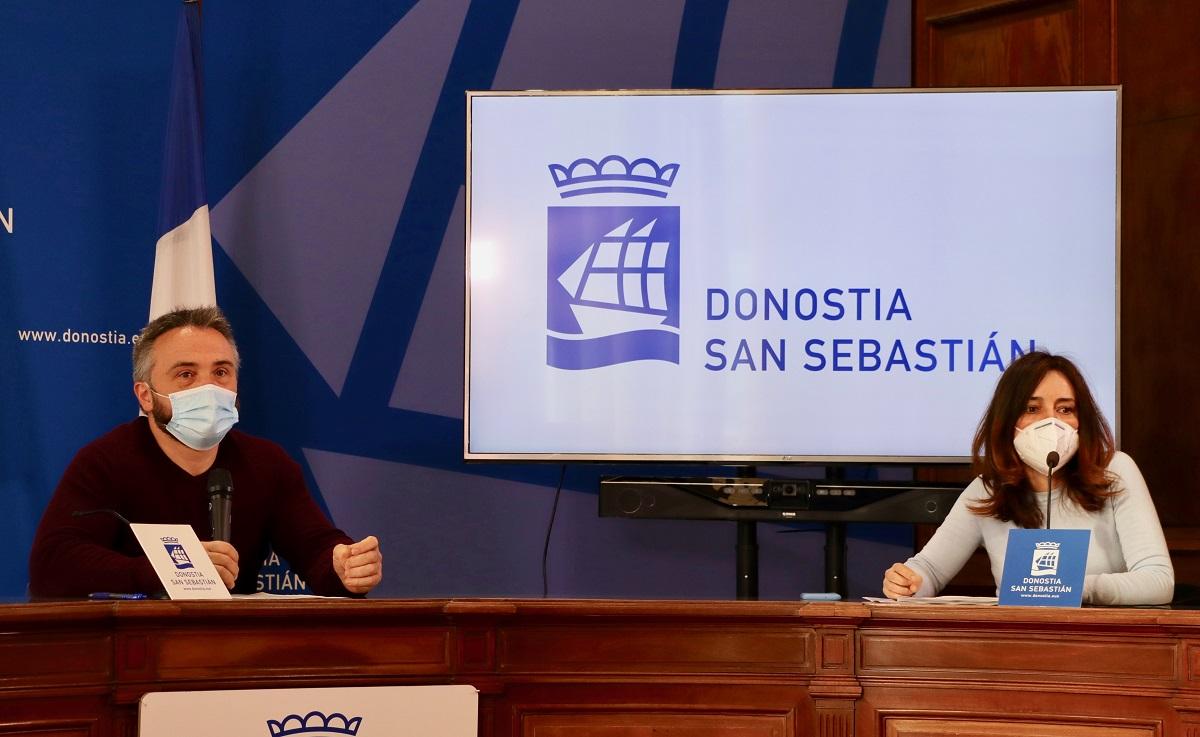 Martín Ibabe y Leire Landa. Foto: Ayto.
