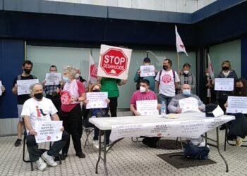 Esta mañana en Donostia. Foto: Stop Desahucios