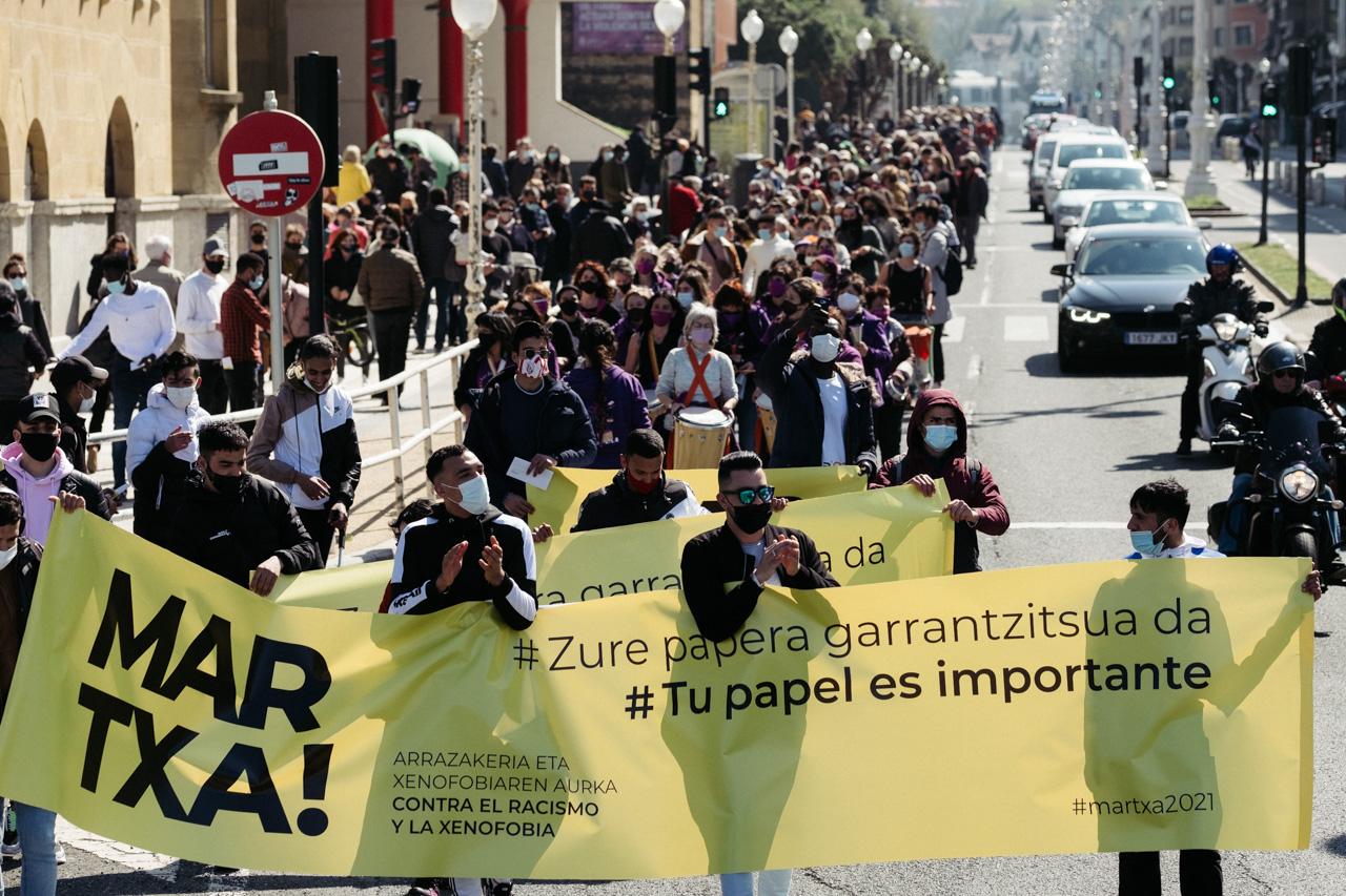 Marcha contra el racismo en Donostia. Fotos: Santiago Farizano