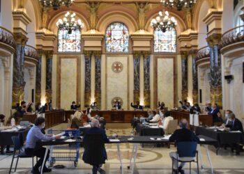 Foto: Pleno de presupuestos en el Ayuntamiento esta mañana