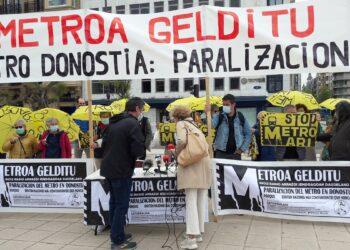 Imagen de la concentración de hoy. Foto: Satorralaia