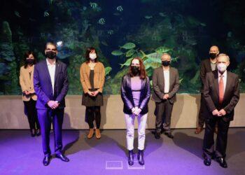 Rueda de prensa de la presentación de Hondalea, hoy en el Aquarium. Foto: Donostiako Udala