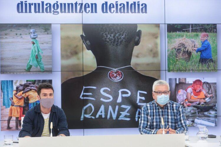 Harkaitz Millán y Fernando San Martín. Foto: Diputación