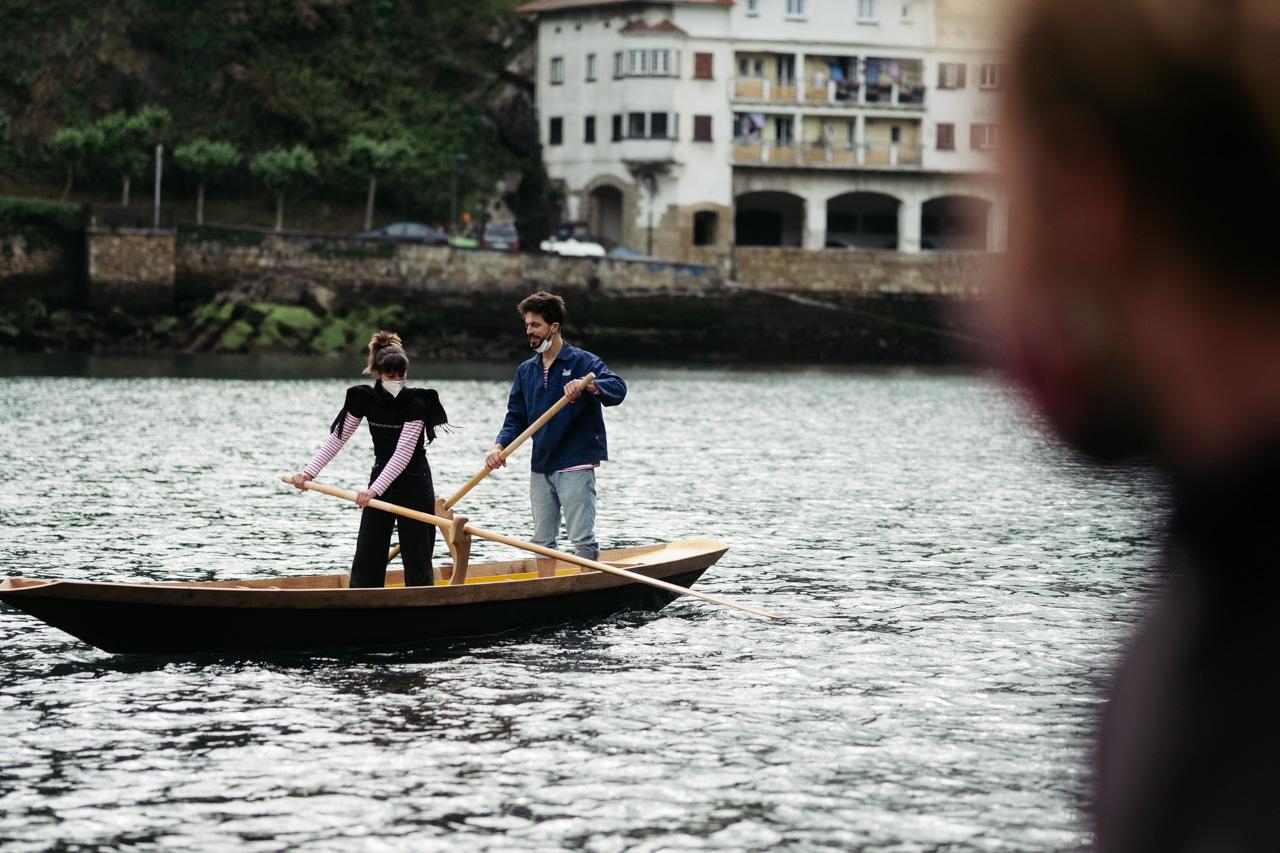 donostitik albaola sandolo botadura 18 - 'Laguna', el barco veneciano de Albaola, ya surca el mar