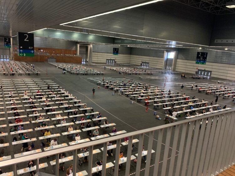 Oposiciones de Educación hoy en el BEC. Foto: Gobierno vasco
