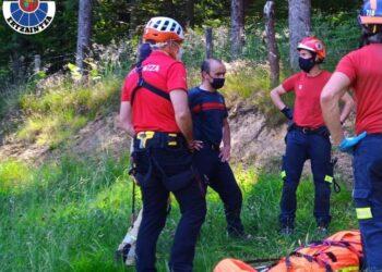 Rescate en Berastegi. Foto: Ertzaintza