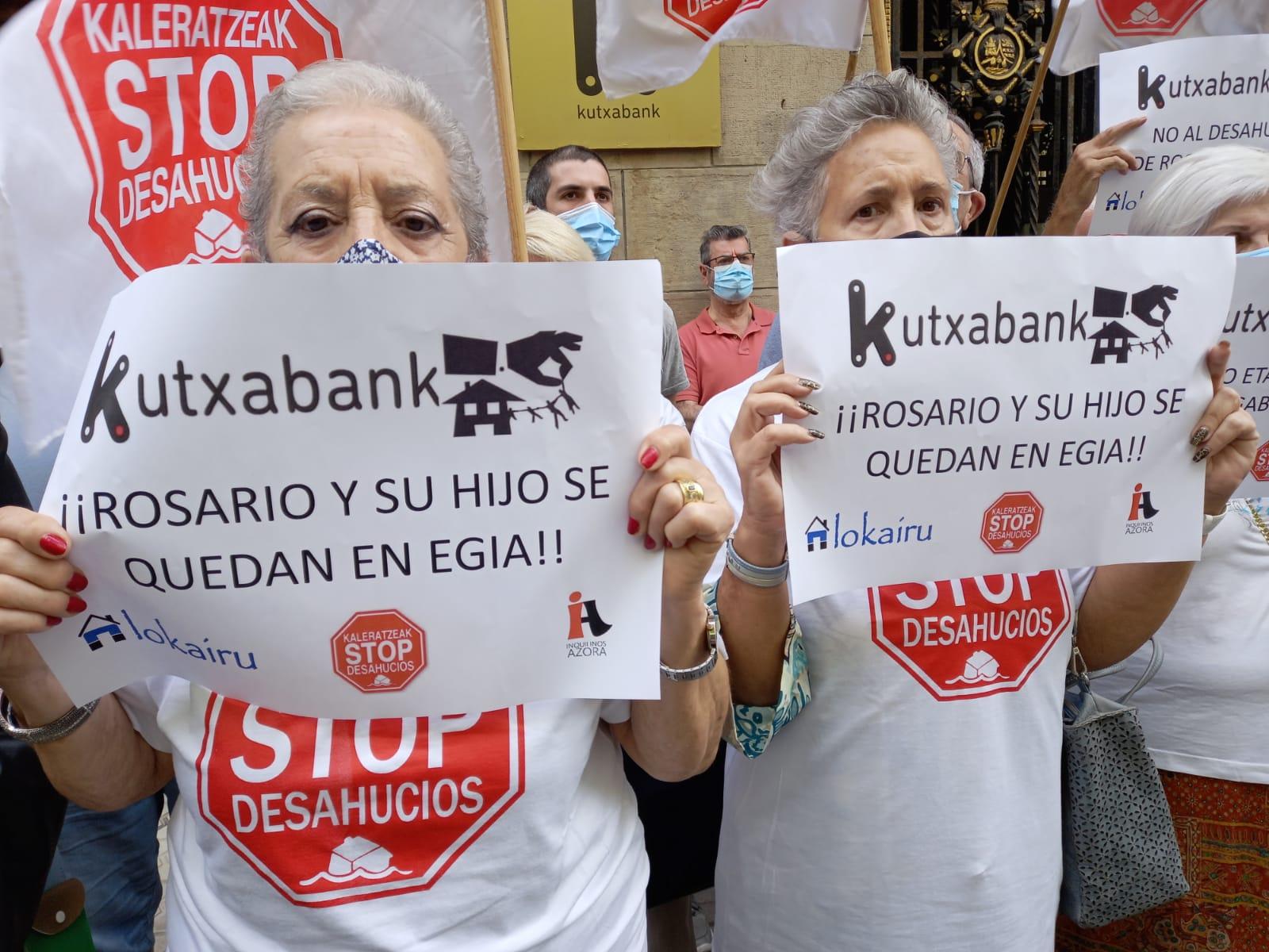 """IMG 20210621 WA0004 - Rosario y su hijo tienen """"la esperanza"""" de no ser desahuciados el viernes de Aldakonea"""