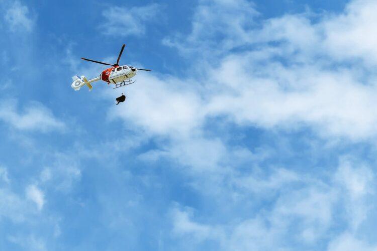 Rescate de un montañero fallecido en el Txindoki. Foto: UVR Ertzaintza