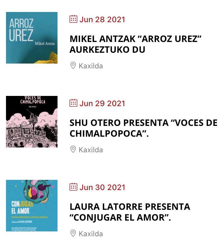kaxilda - Feria del Libro en la plaza de Gipuzkoa hasta el 4 de julio