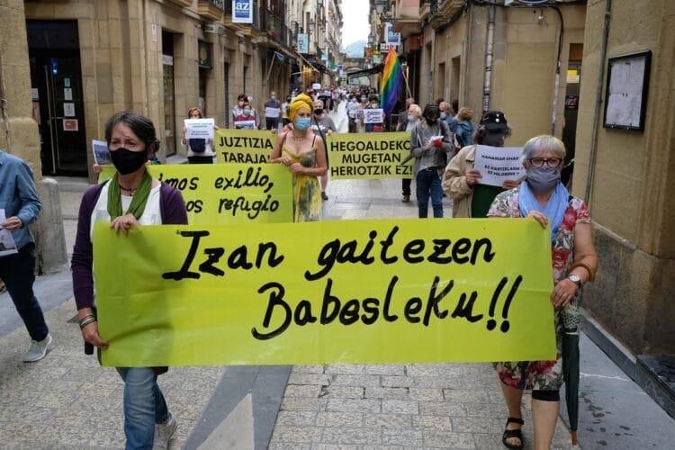Manifestación contra las políticas migratorias. Fotos: Santiago Farizano
