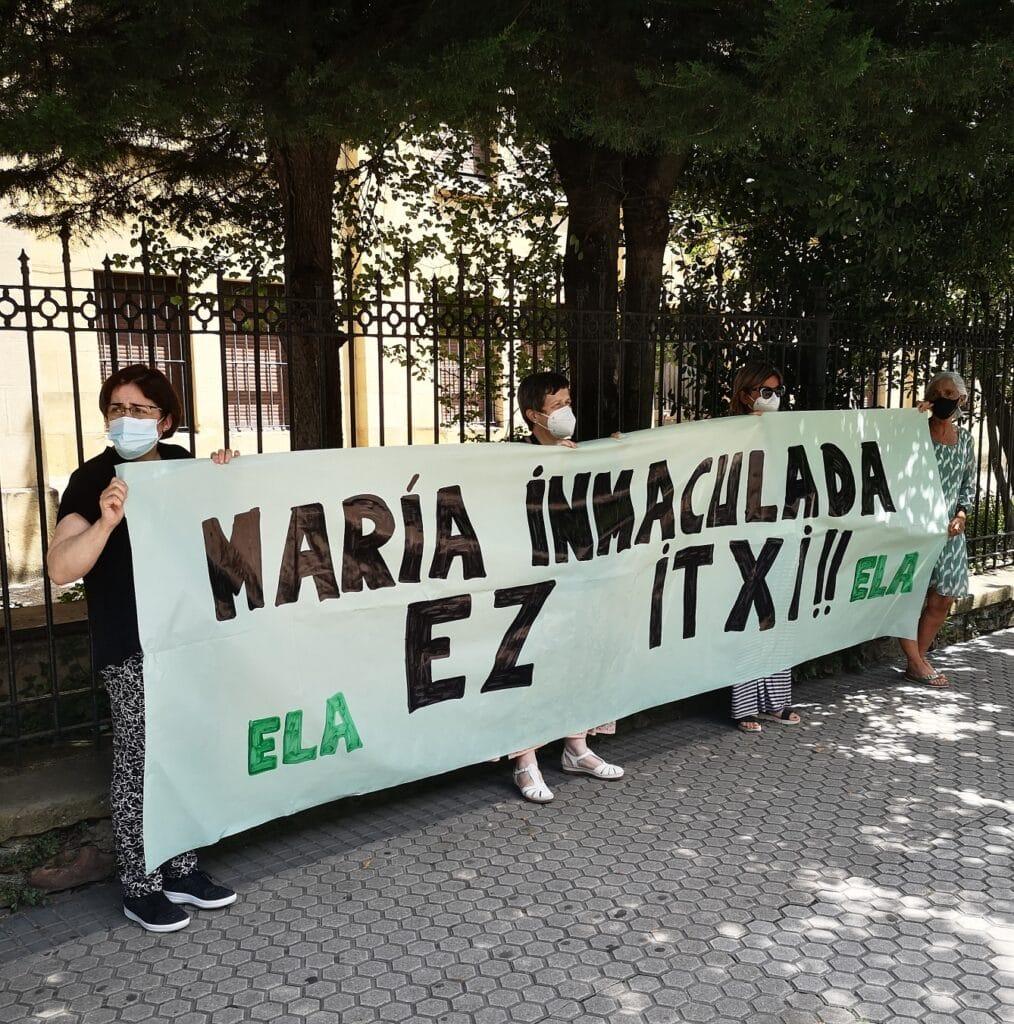 """maria inmaculada ategorrieta 1014x1024 - El drama del colegio María Inmaculada: """"Nos quedamos sin trabajo"""""""