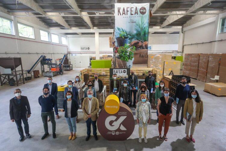 Visita a Ekogras de Aduna para conocer KAFEA project. Foto: Diputación de Gipuzkoa