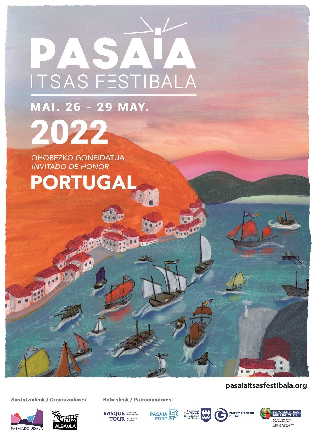 2022 PASAIA ITSAS FESTIBALA KARTELA - El II Pasaia Itsas Festibala se hará realidad del 26 al 29 de mayo de 2022