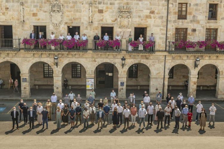 Imagen de los alcaldes reunidos en Bergara. Foto. Ayto de Bergara