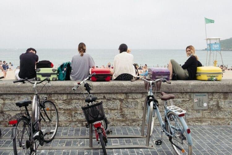 Domingo frente al mar en Donostia. Fotos: Santiago Farizano