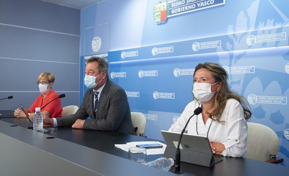Gotzone Sagardui hoy en rueda de prensa. Foto: Gobierno vasco