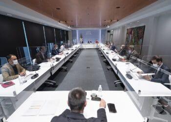 Imagen de la reunión del LABI esta tarde. Foto: Gobierno vasco